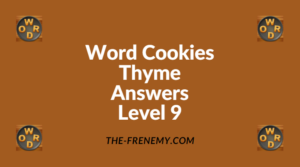Word Cookies Thyme Level 9 Answers