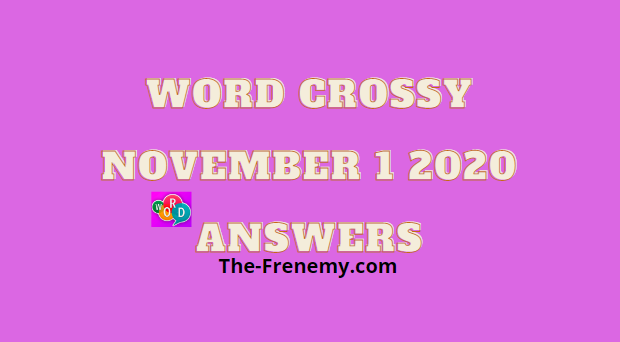 Word Crossy November 1 2020 Answers Daily