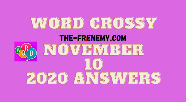 Word Crossy November 10 2020 Answers Puzzle Daily