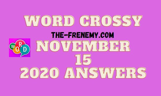 Word Crossy November 15 2020 Answers Daily