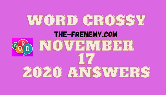 Word Crossy November 17 2020 Answers Daily