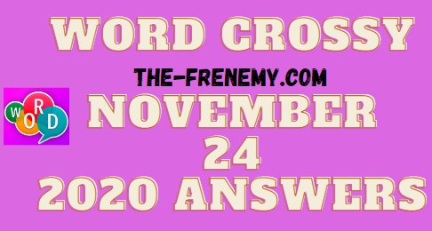 Word Crossy November 24 2020 Answers Daily