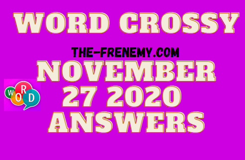 Word Crossy November 27 2020 Answers Daily