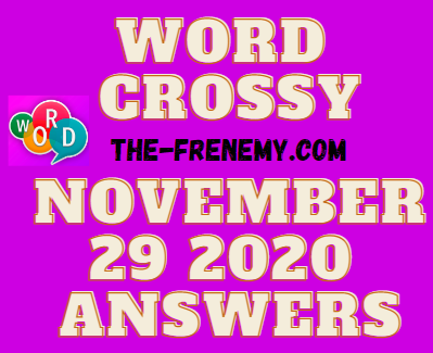 Word Crossy November 29 2020 Answers Daily