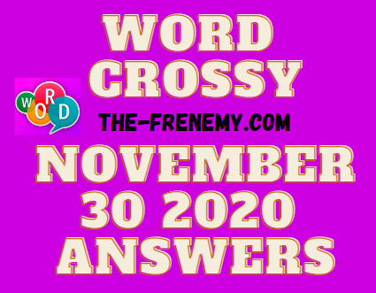 Word Crossy November 30 2020 Answers Daily
