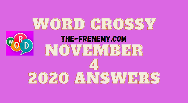Word Crossy November 4 2020 Answers Daily