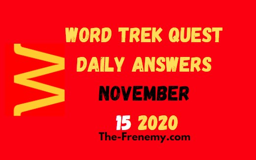Word Trek Quest November 15 2020 Answers Daily