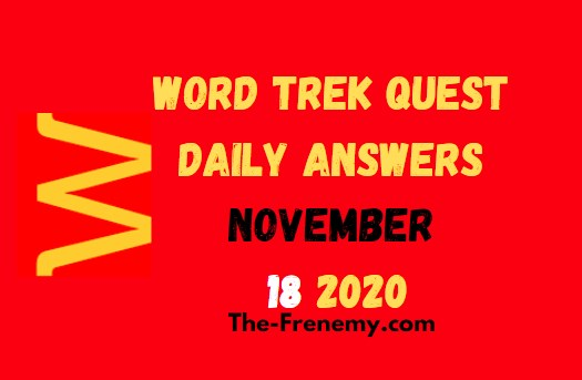 Word Trek Quest November 18 2020 Answers Daily