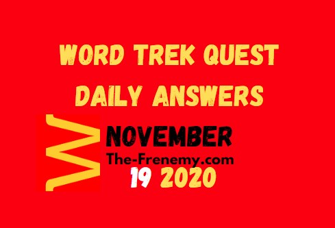 Word Trek Quest November 19 2020 Answers Daily