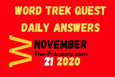 Word Trek Quest November 21 2020 Answers Daily