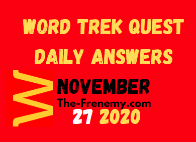 Word Trek Quest November 27 2020 Answers Daily