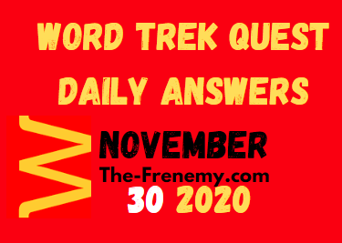 Word Trek Quest November 30 2020 Answers Daily