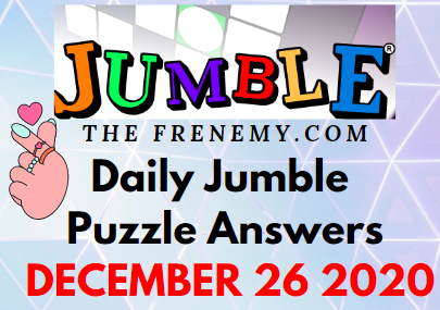 Jumble Puzzle Answers 12 26 20 Solution