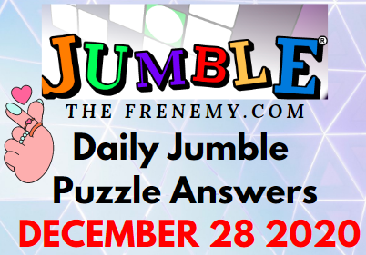 Jumble Puzzle Answers December 28 2020 Daily