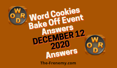 Word Cookies Bake Off December 12 2020 Answers Puzzle