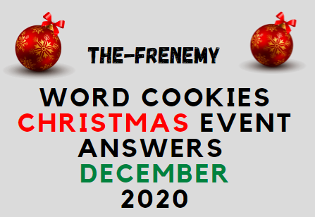 Word Cookies Christmas Event Answers December 2020