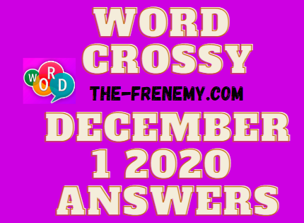 Word Crossy December 1 2020 Answers Daily