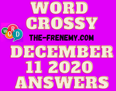 Word Crossy December 11 2020 Answers Daily