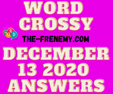 Word Crossy December 13 2020 Answers Daily