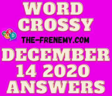 Word Crossy December 14 2020 Answers Daily