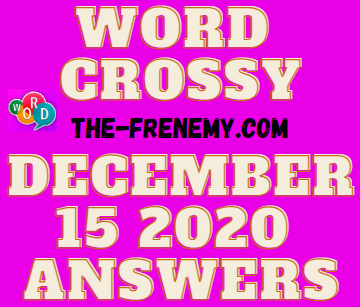 Word Crossy December 15 2020 Answers Daily