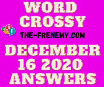 Word Crossy December 16 2020 Answers Puzzle