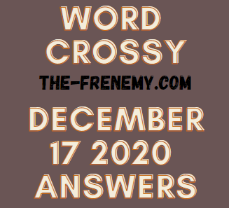 Word Crossy December 17 2020 Answers Puzzle