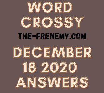 Word Crossy December 18 2020 Answers Puzzle