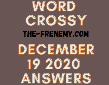 Word Crossy December 19 2020 Answers Puzzle