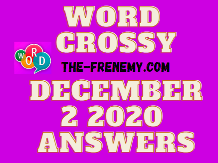 Word Crossy December 2 2020 Answers Daily