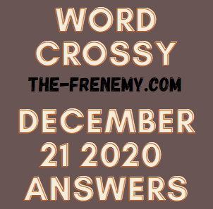 Word Crossy December 21 2020 Answers Puzzle