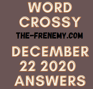 Word Crossy December 22 2020 Answers Puzzle
