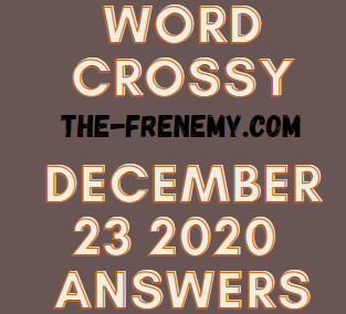 Word Crossy December 23 2020 Answers Puzzle