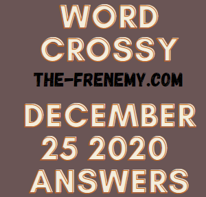 Word Crossy December 25 2020 Answers Puzzle