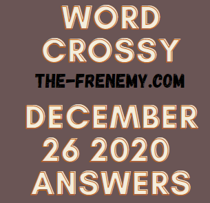 Word Crossy December 26 2020 Answers Puzzle