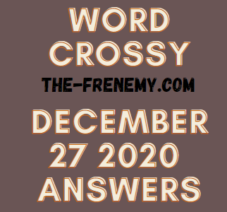 Word Crossy December 27 2020 Answers Puzzle