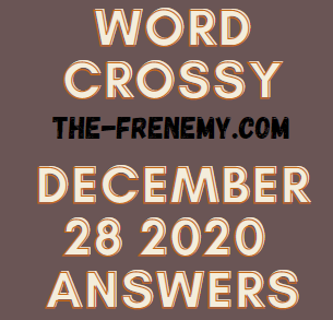 Word Crossy December 28 2020 Answers
