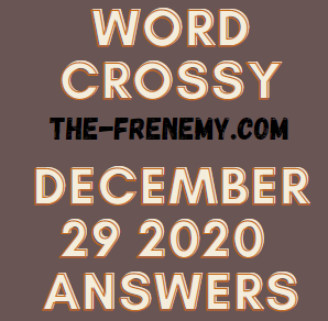 Word Crossy December 29 2020 Answers Puzzle