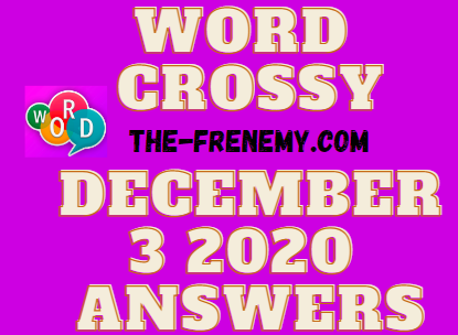 Word Crossy December 3 2020 Answers Daily