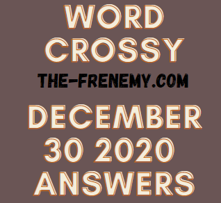 Word Crossy December 30 2020 Answers Puzzle
