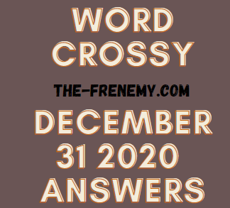 Word Crossy December 31 2020 Answers