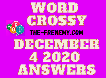 Word Crossy December 4 2020 Answers Daily
