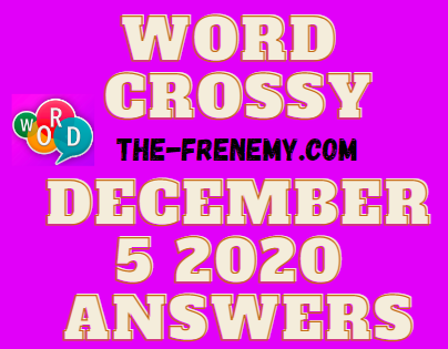 Word Crossy December 5 2020 Answers Daily