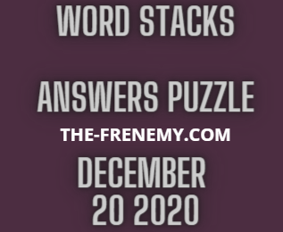 Word Stacks December 20 2020 Answers Daily