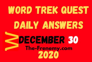 Word Trek Quest Daily December 30 2020 Answers Puzzle
