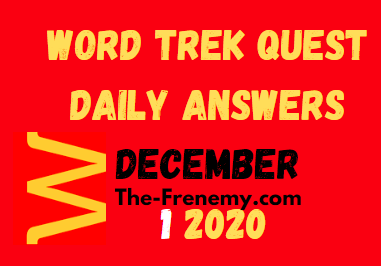 Word Trek Quest December 1 2020 Answers Daily