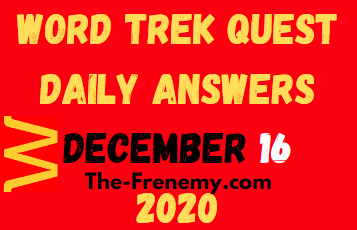 Word Trek Quest December 16 2020 Answers Puzzle