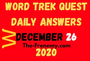 Word Trek Quest December 26 2020 Answers Puzzle