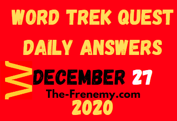 Word Trek Quest December 27 2020 Answers Puzzle