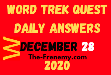 Word Trek Quest December 28 2020 Answers Puzzle